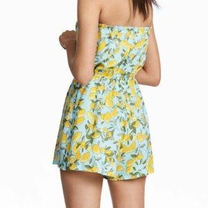 H&M Lemon Printed Romper